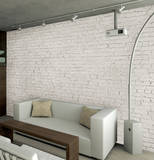 White Loft Brick Wallpaper Mural Carta da parati decorativa