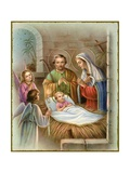 Vintage Illustration of the Nativity Giclee Print