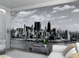 New York Manhattan Schwarz Weiss Fototapete Wandgemälde