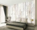 Whitewash Wood Wallpaper Mural Veggoverføringsbilde
