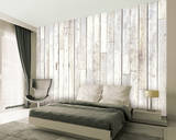 Whitewash Wood Wallpaper Mural Wallpaper Mural