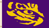 NCAA Louisiana State Tigers Mascot Flag with Grommets Flag