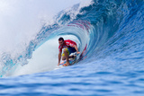 2011 Billabong Pro Teahupoo: Aug 20 - Joel Parkinson Photographic Print by Kirstin Scholtz