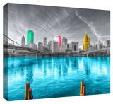 Pittsburgh Stretched Canvas Print