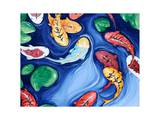 Koi Fish Dreams Blue Posters par  Susybee
