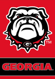 NCAA Georgia Bulldogs 2-Sided Banner with Pole Sleeve Flag