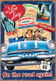 I Love Lucy Road Trip Tin Sign Tin Sign