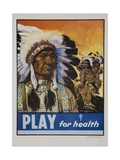 Play for Health Poster Giclee Print