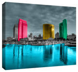 San Diego Stretched Canvas Print