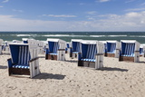 Chairs on the Beach of Westerland, Sylt, North Frisian Islands, Schleswig Holstein, Germany Photographic Print by Markus Lange
