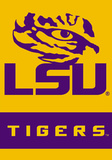 NCAA Louisiana State Tigers 2-Sided House Divided Banner with Pole Sleeve Flag