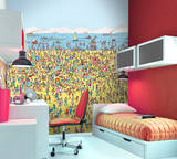 Where's Wally Beach Wallpaper Mural Wallpaper Mural