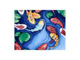 Koi Fish Dreams Blue Posters by  Susybee