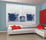 X-Ray DJ Decks Deco Wall Mural reproduction murale géante