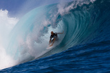 2011 Billabong Pro Teahupoo: Aug 26 - Kelly Slater Photographic Print by Steve Robertson