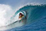 2012 Billabong Pro Teahupoo: Aug 27 - Joel Parkinson Photographic Print by Kirstin Scholtz