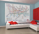 London Underground Map Deco Wall Mural Wallpaper Mural