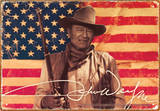 John Wayne Flag Tin Sign Tin Sign