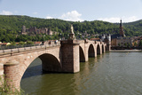 Old Bridge over the River Neckar, Old Town and Castle, Heidelberg, Baden-Wurttemberg, Germany Photographic Print by Hans-Peter Merten