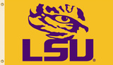 NCAA Louisiana State Tigers LSU Flag with Grommets Flag