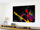Reproduction murale géante Jimmy Hendrix reproduction murale géante