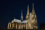 Night View of Cologne Cathedral Photographic Print by Keren Su