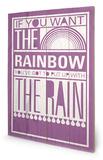 Rainbow Wood Sign Znak drewniany autor Sarah Winter