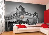 London Tower Bridge Schwarz Weiss Fototapete Wandgemälde