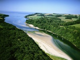 Aerial View of River Erme Photographic Print by Jason Hawkes