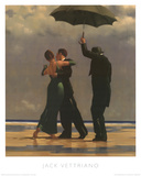 Dancer In Emerald Prints by Jack Vettriano