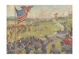 Book Illustration of the Battle of Gettysburg Giclee Print by E. Boyd Smith