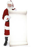 Santa with Large Sign Board Lifesize Standup Pappfigurer
