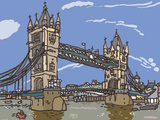 Tower Bridge Giclee Print by James Hobbs