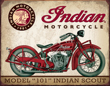 Indian Scout Tin Sign Placa de lata