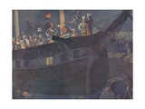 Book Illustration of the Boston Tea Party Giclee Print by E. Boyd Smith