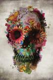 Flower Skull Poster