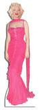 Marilyn Monroe Pink Evening Gown Lifesize Standup Silhouettes découpées grandeur nature