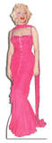 Marilyn Monroe Pink Evening Gown Lifesize Standup Papfigurer