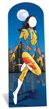 Female superhero Stand In Silhouettes découpées grandeur nature