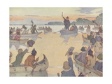 Book Illustration of Roger Williams at Narragansett Bay Giclee Print by E. Boyd Smith