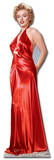 Marilyn Monroe Red Gown Lifesize Standup Silhouettes découpées grandeur nature