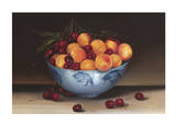 Bowl of Cherries and Peaches Prints by Mimi Roberts
