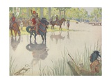 Book Illustration of Hernando De Soto at the Mississippi River Giclee Print by E. Boyd Smith