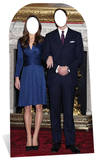 Will and Kate Stand In Silhouette en carton