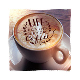 Life Begins After Coffee Premium Giclee Print by Sue Schlabach