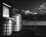 The Clock Worthing B&W Giclee Print by Jo Crowther
