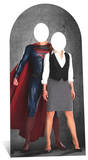 Superman and Lois Lane Stand In Pappaufsteller