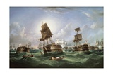 The Day after the Battle of Trafalgar Giclee Print by Richard B. Spencer
