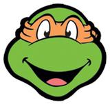 Michelangelo TMNT Face Mask Maske