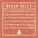 Beach Rules - Coral - Detail Giclee Print by  The Vintage Collection